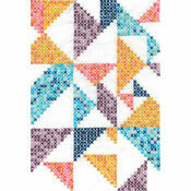 Pixel Nation Geometry Printed Cross Stitch Kit