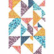Pixel Nation Geometry Printed Cross Stitch Kit