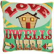 Love Dwells Here Tapestry Cushion Panel Kit