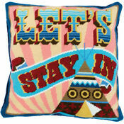Let's Stay In Tapestry Cushion Panel Kit