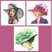 Set Of 3 Miniatures - Rachel, Sarah, Charlotte Cross Stitch Kits