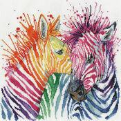 Colourful Zebras Cross Stitch Kit