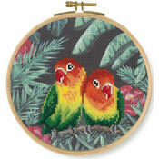 Love Birds Cross Stitch Hoop Kit