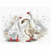 Three Merry Geese Cross Stitch Kit