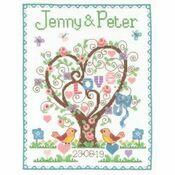 Love Heart Wedding Sampler Cross Stitch Kit