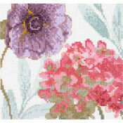 Rainbow Seeds Flowers V Cross Stitch Kit