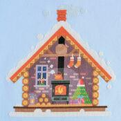 Santa's Cosy Cabin Cross Stitch Kit
