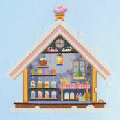 Inside The Gingerbread House Cross Stitch Kit