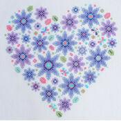Floral Heart Sampler Cross Stitch Kit