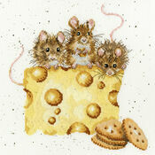Three Mice \'Crackers About Cheese\' Cross Stitch Kit