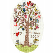 Sweet Tree Wedding / Anniversary Cross Stitch Card Kit