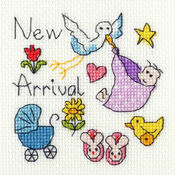 New Baby Cross Stitch Card Kit