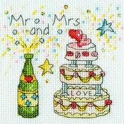 Cheers Cross Stitch Wedding Card Kit