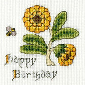 Marigold Cross Stitch Card Kit