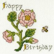 Rose Cross Stitch Card Kit