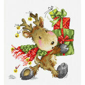 Reindeer With Gifts Cross Stitch Kit