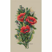 Vintage Poppies Cross Stitch Kit