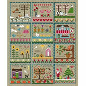 Little Dove\'s Year (Taupe) Cross Stitch Kit
