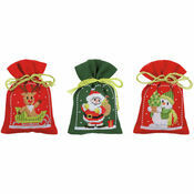 Christmas Figures Pot-Pourri Bags - Set Of 3 Cross Stitch Kits