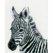 Zebra Cross Stitch Kit
