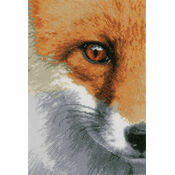 Fox Close-Up Cross Stitch Kit