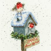 Santa Please Stop Here Cross Stitch Kit