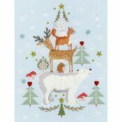 Snowy Stack Cross Stitch Kit