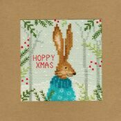 Xmas Hare Cross Stitch Christmas Card Kit