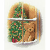 William At Christmas Teddy Bear Cross Stitch Kit