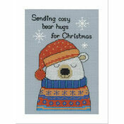 Barney Polar Bear Cross Stitch Christmas Card Kit