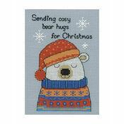 Barney Polar Bear Cross Stitch Christmas Card Kit