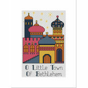 Bethlehem Gold Cross Stitch Christmas Card Kit
