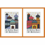 Bethlehem Set Of 2 Cross Stitch Christmas Card Kits