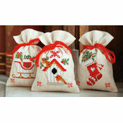 Christmas Wish Pot Pourri Bags Set of 3 Cross Stitch Kits