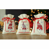 Christmas Beards Pot Pourri Bags Set of 3 Cross Stitch Kits