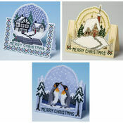 3D Christmas Specials - Set Of 3 Cross Stitch Card Kits