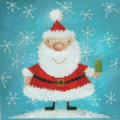 Santa Claus & Snowflakes Cross Stitch Kit