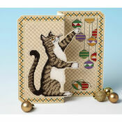 Christmas Mischief 3D Cross Stitch Card Kit