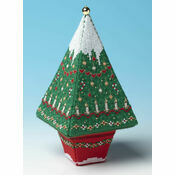 Tall Christmas Advent Tree 3D Cross Stitch Kit