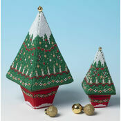 Advent Tree Tall & Small 3D Cross Stitch Kits - Set of 2