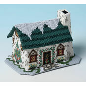 Christmas Tree Cottage 3D Cross Stitch Kit