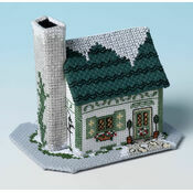 Mistletoe Cottage 3D Cross Stitch Kit