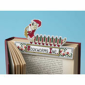 Santa Bookworm 3D Cross Stitch Kit