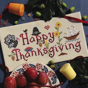 Happy Thanksgiving Cross Stitch Kit