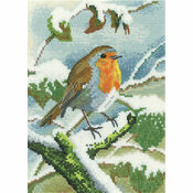 Robin In Winter Cross Stitch Kit