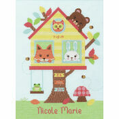 Tree House Birth Sampler Cross Stitch Kit