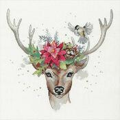 Woodland Deer Cross Stitch Kit