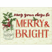 Merry & Bright Cross Stitch Kit
