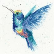 Rainbow Hummingbird Cross Stitch Kit