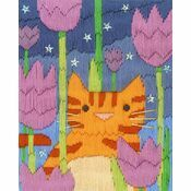 Tiger The Cat Long Stitch Kit